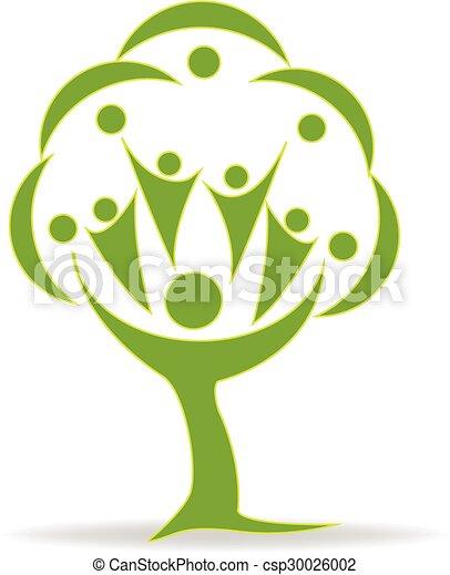 Tree teamwork people logo - csp30026002