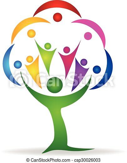 Tree teamwork people logo  - csp30026003