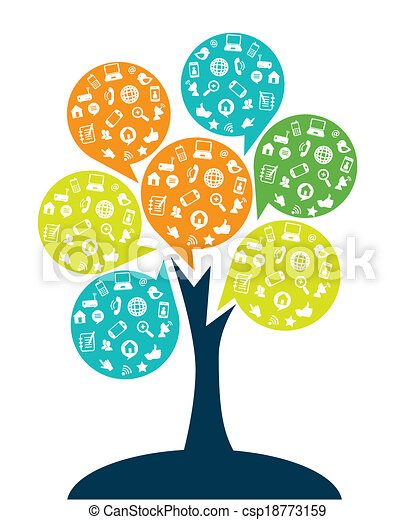 tree technology entertainment design over white background rh canstockphoto com clip art technology icons clipart technology icons