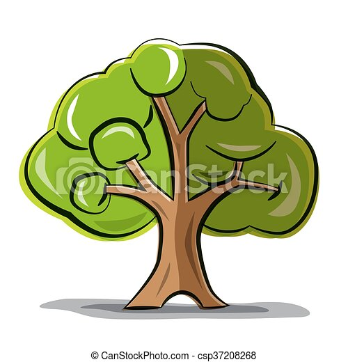 Tree - Vector Abstract Tree Isolated on White Background - csp37208268
