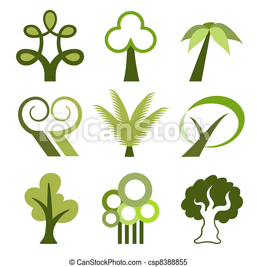 Tree vector icons - csp8388855