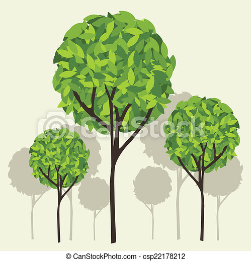 Tree vector - csp22178212