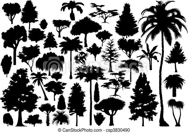 Tree (vector) - csp3830490