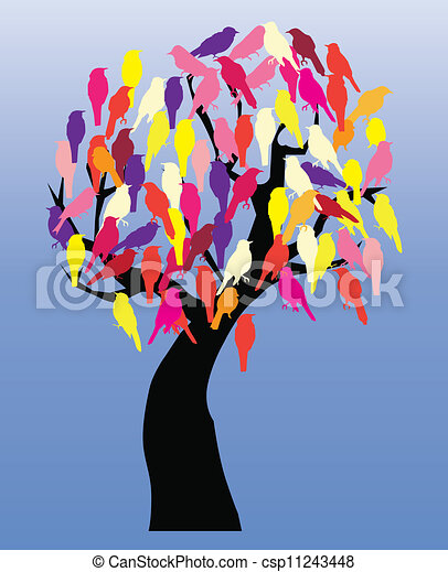 tree with birds - csp11243448