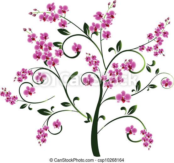Tree with flowers - csp10268164