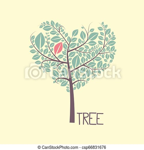 Tree with Leaves Vector Flat Design Icon - csp66831676