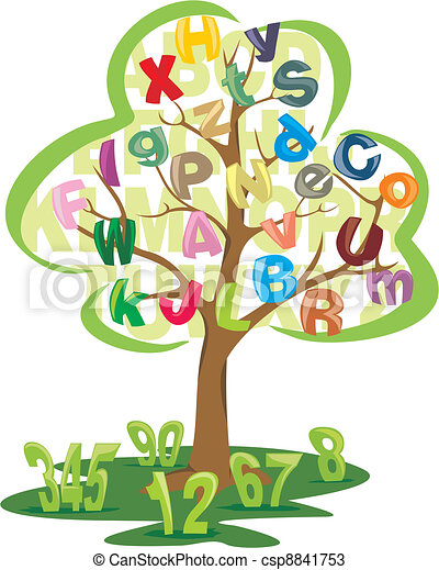 Tree With Letters And Numbers Science Literacy And Numeracy The