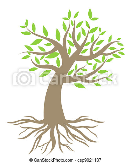 Tree with roots - csp9021137