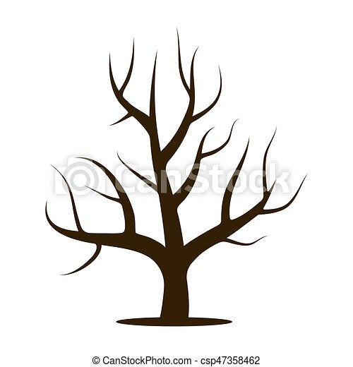 tree without leaves vector illustration isolated on a white clip rh canstockphoto com tree clipart without leaves tree with no leaves clipart black and white