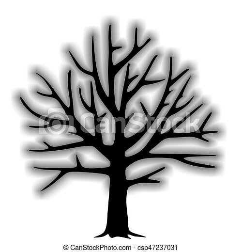 Decorative template of a tree without leaves tree without leaves csp47237031 maxwellsz