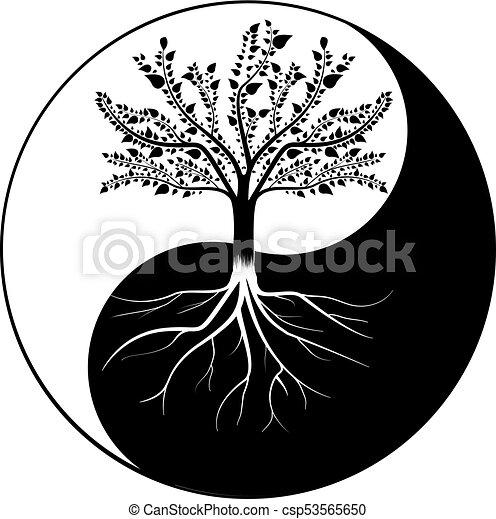 Tree Yin Yang - csp53565650