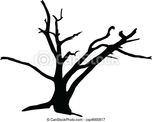 tree3 vector silhouettes - csp4665817