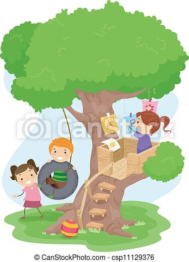 Treehouse Kids - csp11129376