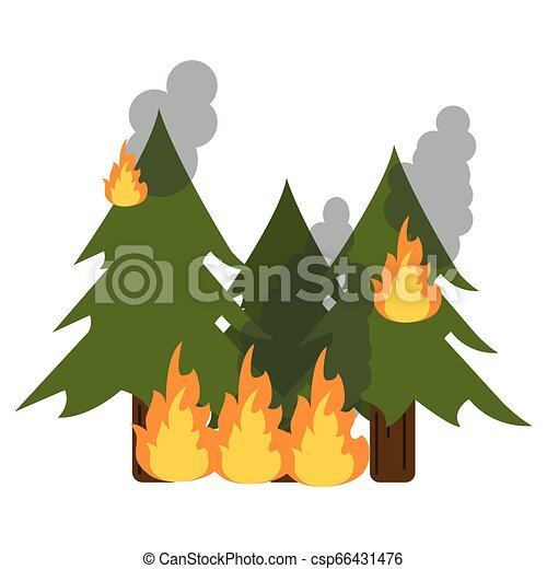 Trees Forest In Fire Cartoon Vector Illustration Graphic Design Canstock Animal cartoon in jungle with blank sign. https www canstockphoto com trees forest in fire 66431476 html