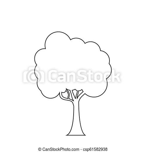 Trees line icon on the white background. - csp61582938