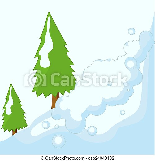 Trees On Snow Land Background Trees On Snow Mountain Vector Nature