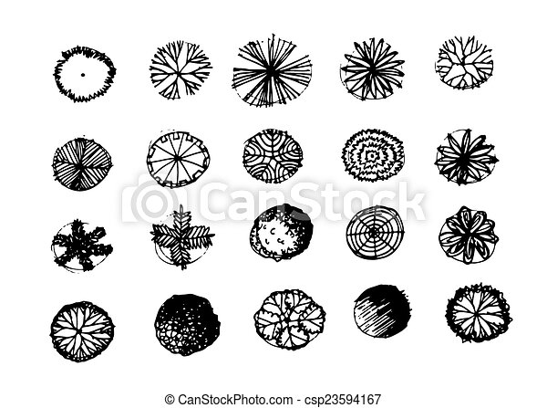 Trees Top View For Architecture Landscape Design Projects Vector