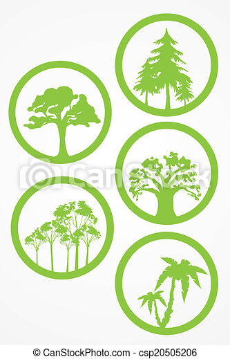 trees - vector set - csp20505206