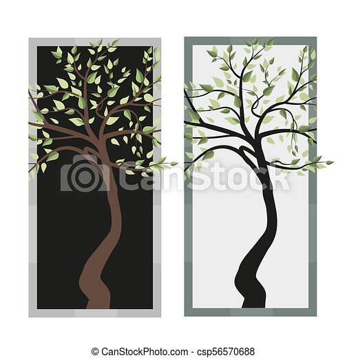 Trees with leaves - csp56570688