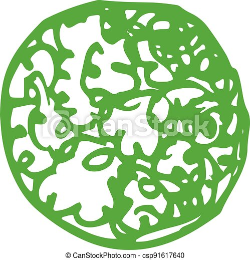 trees with leaves icon sign design - csp91617640