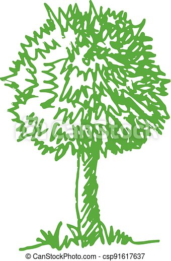 trees with leaves icon sign design - csp91617637