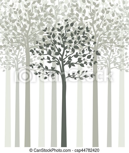 Trees with leaves - csp44782420
