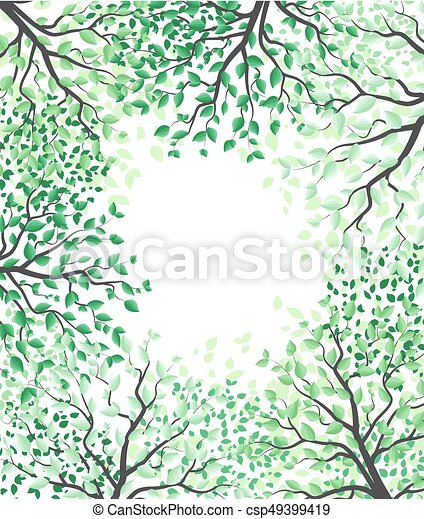 Trees with leaves - csp49399419