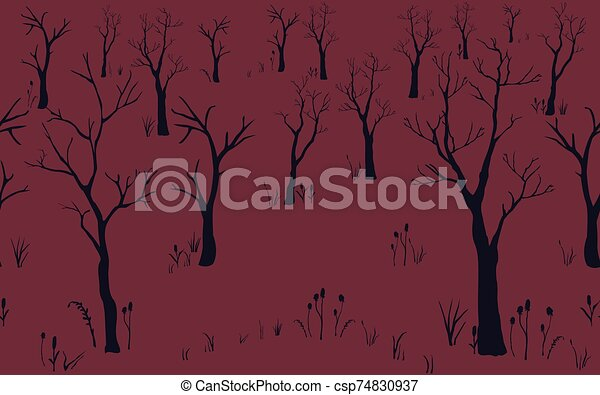 Trees with no leaves. - csp74830937