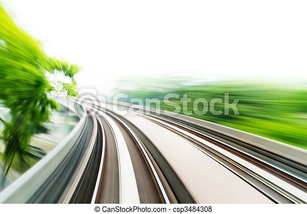 trein, hemel - csp3484308