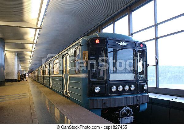 trein, metro - csp1827455