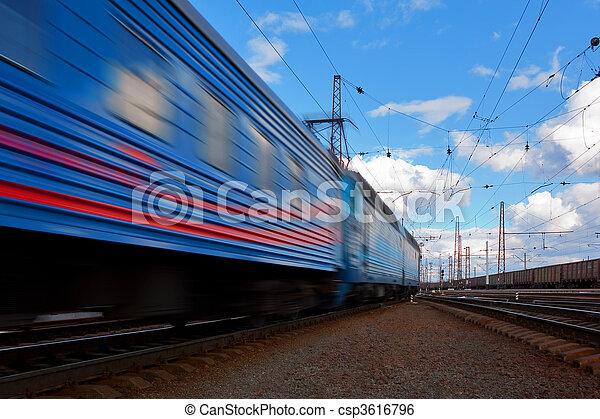 trein, snelheid, vertrek - csp3616796