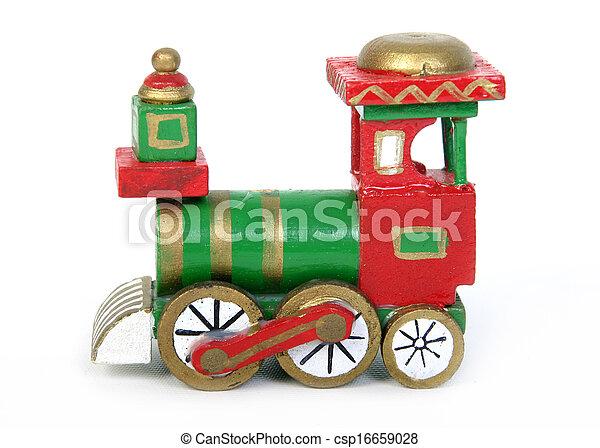 trein, speelbal, kerstmis - csp16659028