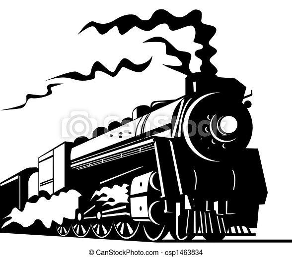 trein, stoom - csp1463834