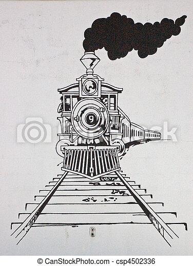 trein, tekening - csp4502336