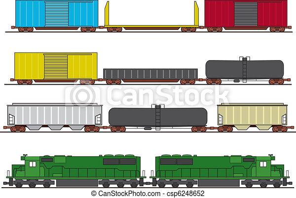 trein, vracht - csp6248652