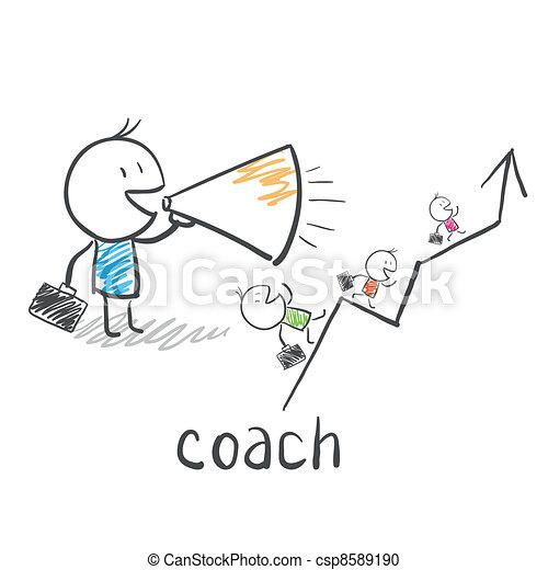 treinador, treinador, negócio - csp8589190
