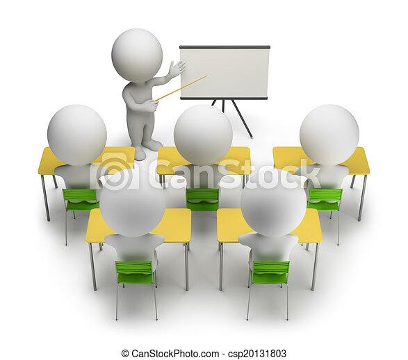treinamento, pessoas, -, cursos, pequeno, 3d - csp20131803