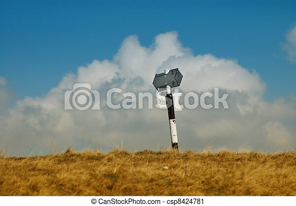 Trekking guidepost in the mountains - csp8424781