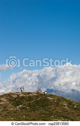 trekking in the mountain - csp23813560