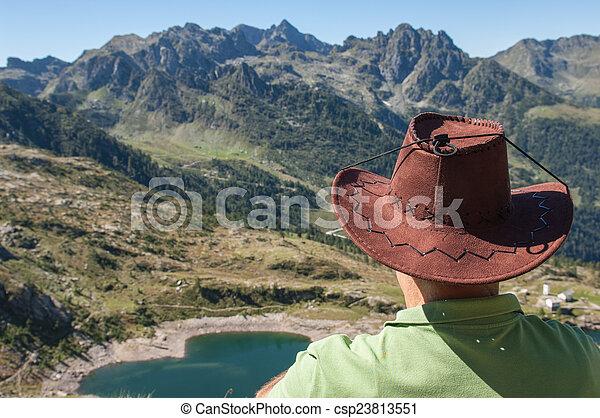 trekking in the mountain - csp23813551