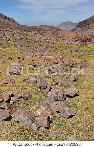 Trekking in the mountains - csp17022598