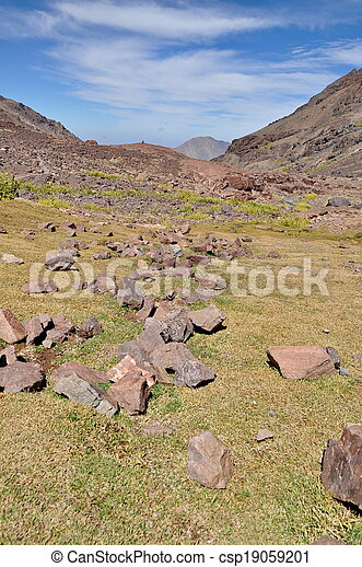 Trekking in the mountains - csp19059201