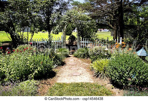 Trellis In Garden   Csp14546438