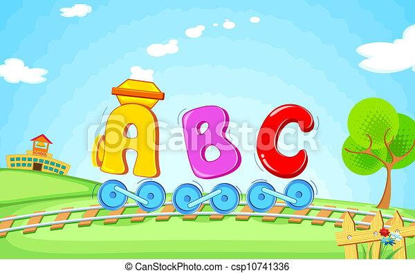 trem, abc - csp10741336