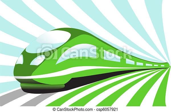 trem alta velocidade - csp6057921