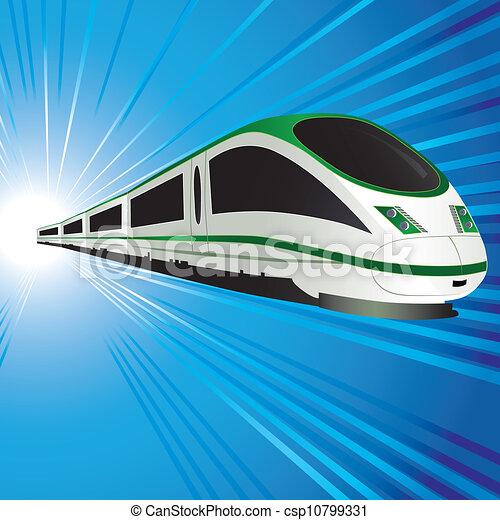 trem alta velocidade - csp10799331