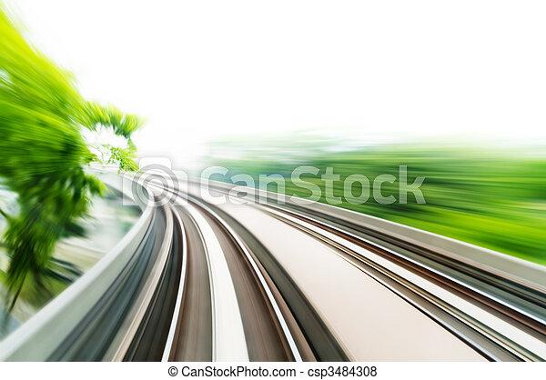 trem, céu - csp3484308
