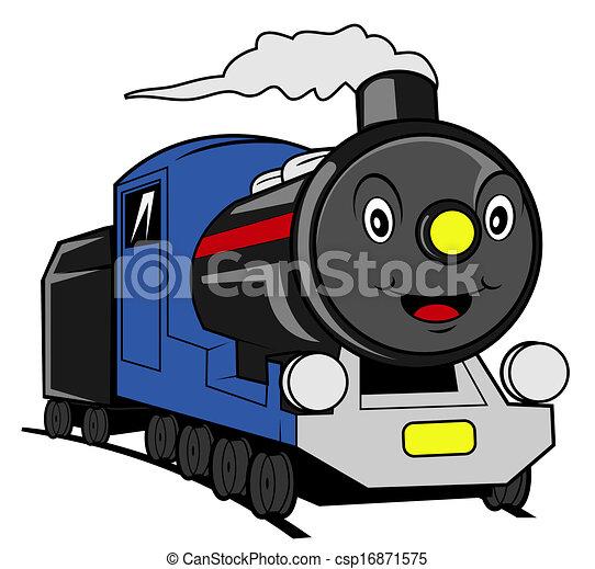 trem, caricatura - csp16871575