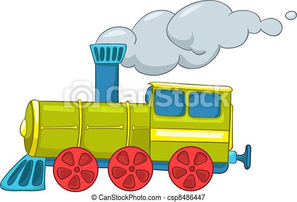 trem, caricatura - csp8486447