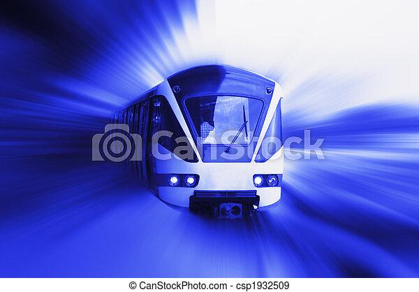 trem, em movimento - csp1932509
